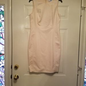 Calvin Klein 8 sleeveless cream lined dress